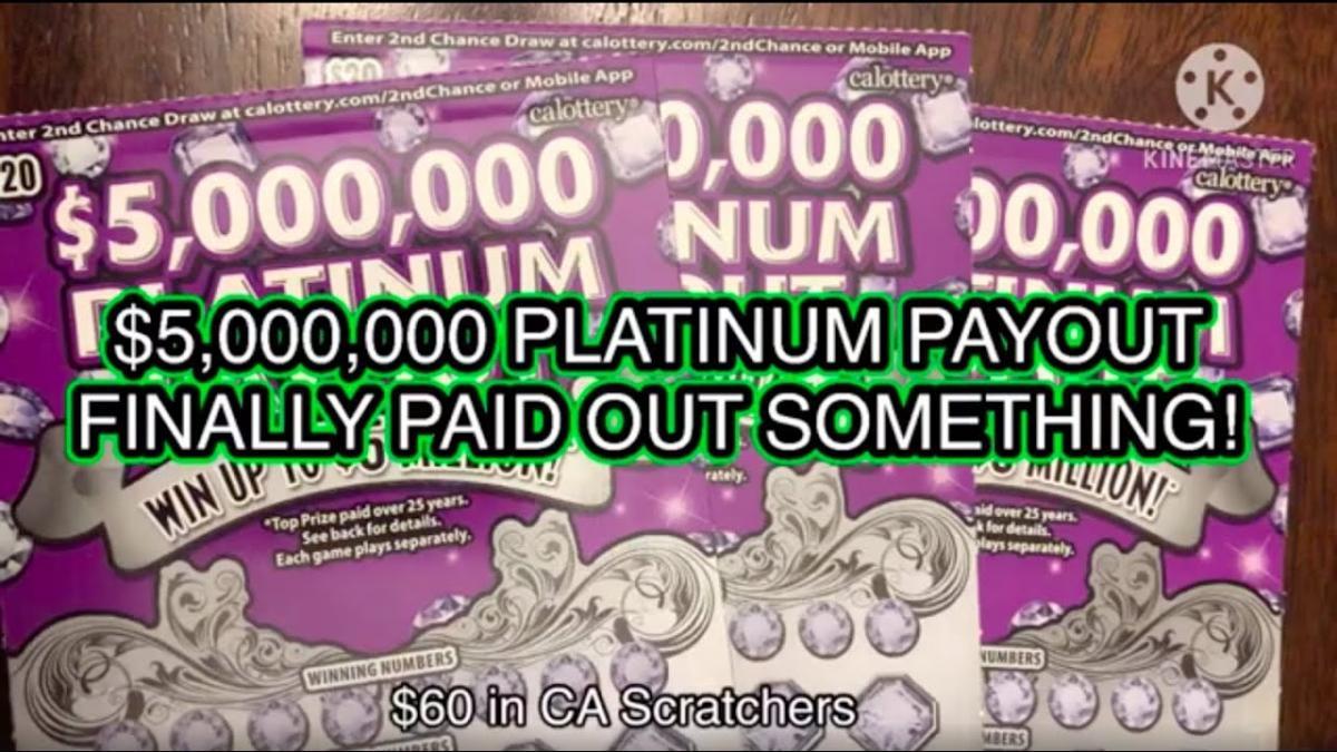 Platinum Payout หวยแบบขูดจากอเมริกา ขูดยากขูดเย็น…แต่ก็มีคนถูกหวยนะ